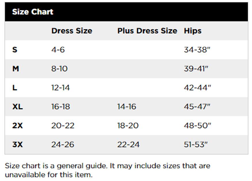 Bali Size Chart