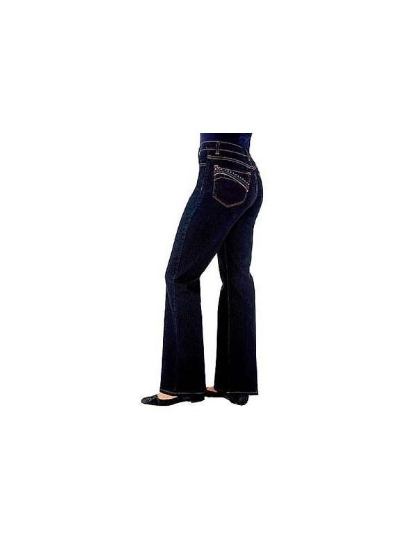 NYDJ - Sarah Blue Black Embellished Bootcut Jeans *710od