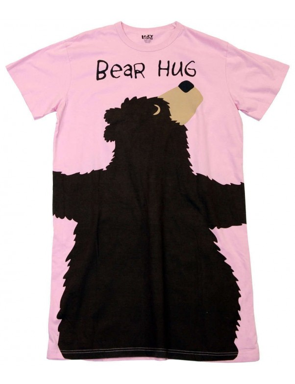Womens Pink Bear Hug 100% Cotton