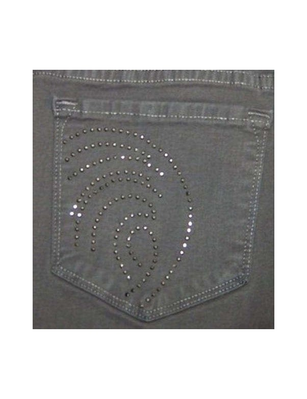 NYDJ - Grey Straight Leg Jeans with Bling *431130