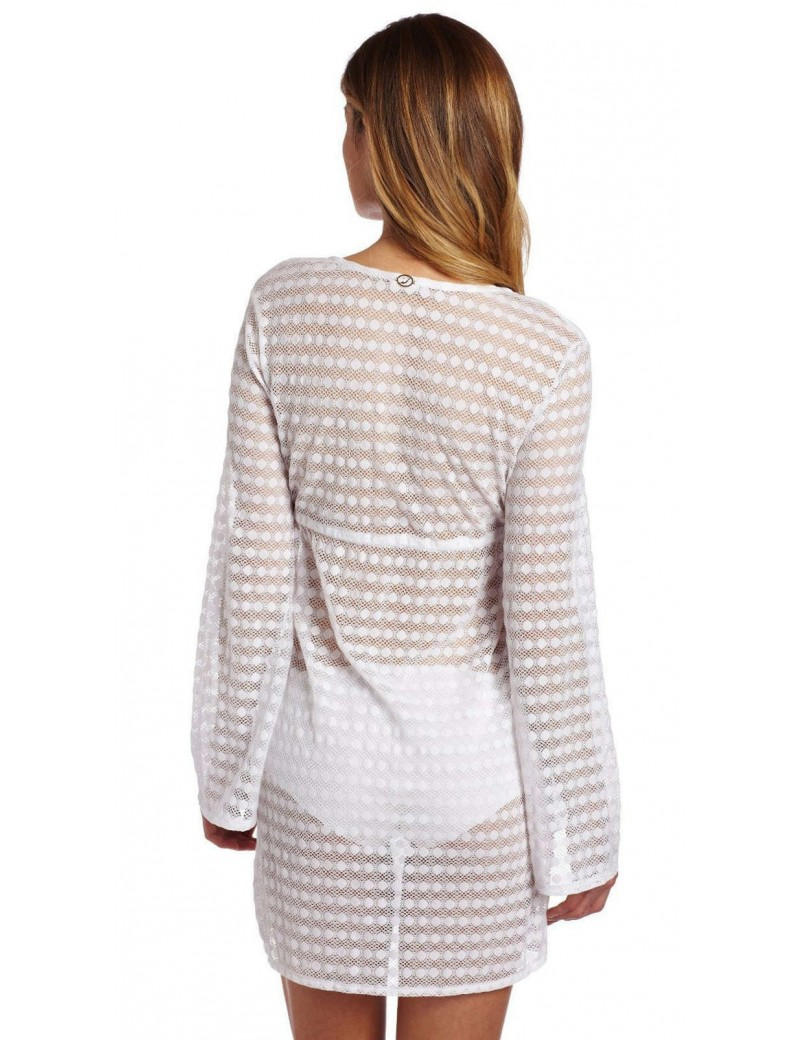 Jantzen Long Sleeve Lace Swimsuit Cover Up - White