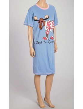 LazyOne - Don't Do Mornings Moose Nightshirt 100% Cotton - Plus