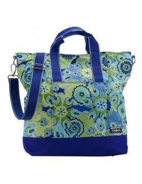 Hadaki - French Market Tote in Jazz Cobalt Pattern