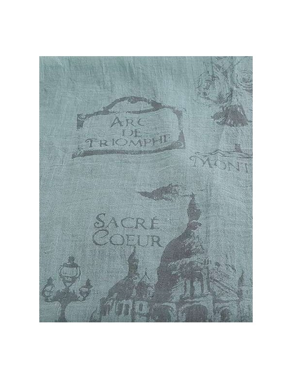 Scarf -  Paris Architecture Print - Green