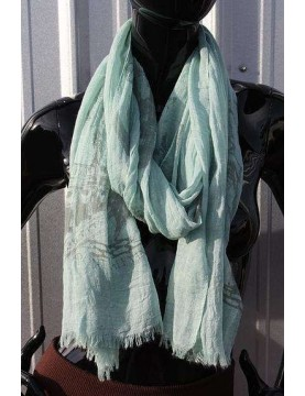Scarf - Paris Print - Green