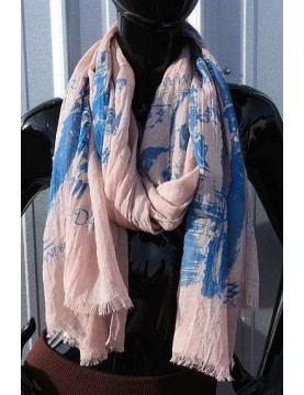 Scarf - Paris Print - Pink