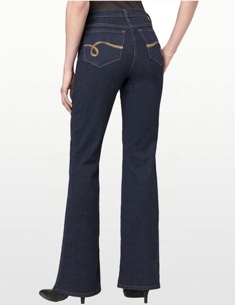 NYDJ - Sarah Blue Black Bootcut Jeans - Emb *700142