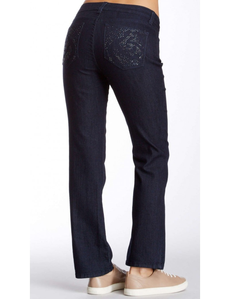 NYDJ - Marilyn Dark Wash  Jeans with Embellishments *p10227T3310