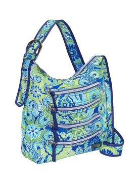 Hadaki - Nylon Millipede Tote in Jazz Cobalt Pattern