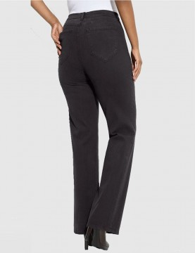 NYDJ - Sarah Dark Grey Sueded Bootcut Jeans *4600ODT