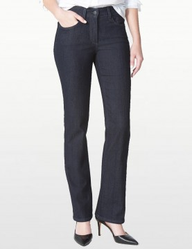 NYDJ - Barbara Bootcut Jeans in Dark Wash with Embellished Pockets *10232T961