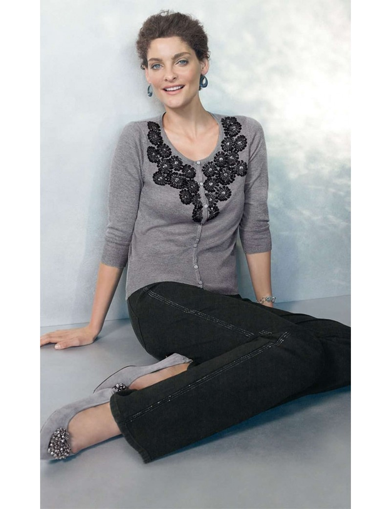 NYDJ - Sarah Black Bootcut Tuxedo Jeans *40934DT3183