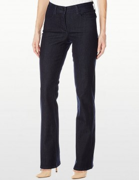 NYDJ - Barbara Bootcut Jeans in Dark Wash with Embellished Pockets *J84232TP4