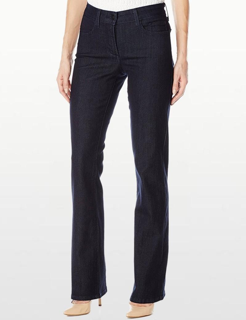 NYDJ - Barbara Dark Wash Bootcut Jeans - Emb *J84232TP4
