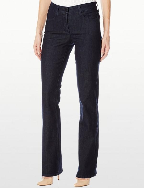 NYDJ - Barbara Bootcut Jeans in Dark Wash with Embellished Pockets *J84232TP4