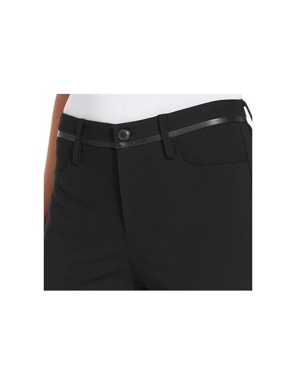 NYDJ - Ryan Faux Leather Trim Ponte Knit Bootcut Pants *S114F0758