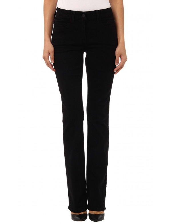 NYDJ - Marilyn Black Sueded Straight Leg Jeans *4631ODT