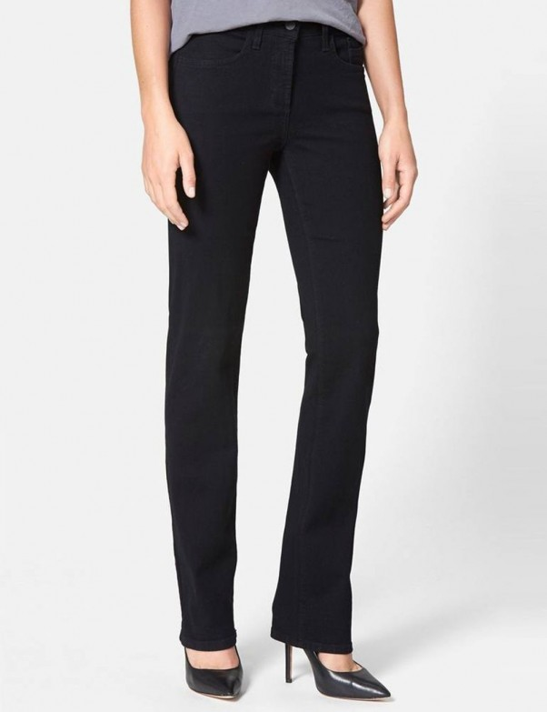 NYDJ - Marilyn Straight Leg in Black with Embellished Pockets *40227DT3239