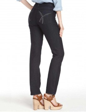 NYDJ - Marilyn Jeans in Dark Wash with Embellishments *J84227TP9