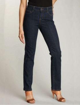 NYDJ - Lauren Blue Black Straight Leg Jeans *7083