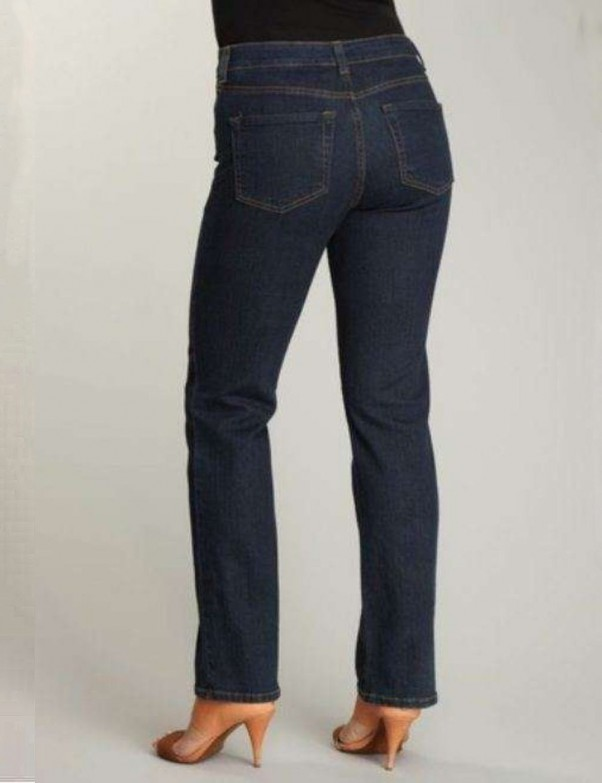 NYDJ - Lauren Blue Black Straight Leg Jeans *7083