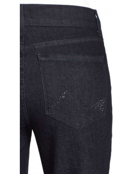 NYDJ - Marilyn Blue Black Straight Leg with Embellished 731T500