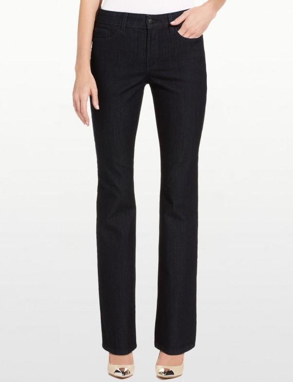 NYDJ - Marilyn Straight Leg Jeans in Black Enzyme Wash *28227T943