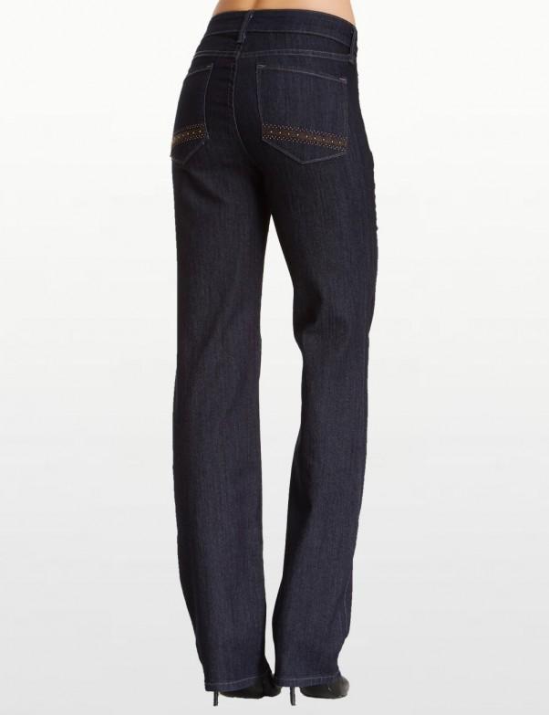 NYDJ - Marilyn Jeans in Dark Wash with Embellished Pockets *10227u3385