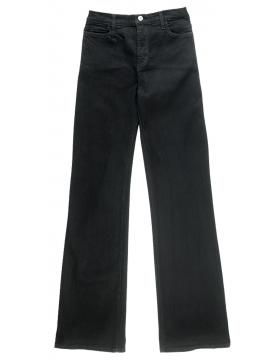 NYDJ Style 400BLG - Sarah Black Bootcut Jeans - Long