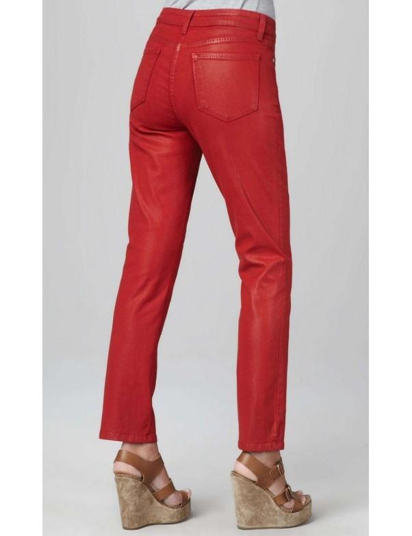 NYDJ - Sheri Skinny Leg Coated Denim Jeans - Red Jasper *40265DTCC