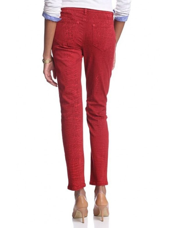 NYDJ - Sheri Skinny Leg Jeans - Red Shattered Wash *82265DTSW