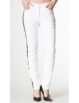 NYDJ - Sheri Slim Leg Jeans - White Tuxedo Jeans *30265DT3243
