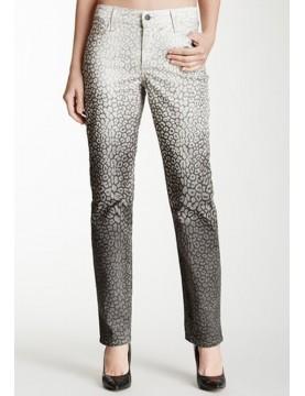 NYDJ - Sheri Skinny Leg Jeans Black/White Ombre Leopard Print  *30265DTP98