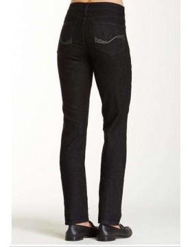 NYDJ - Sheri Skinny Embellished Jeans in Black Enzyme Wash *B28265T3156