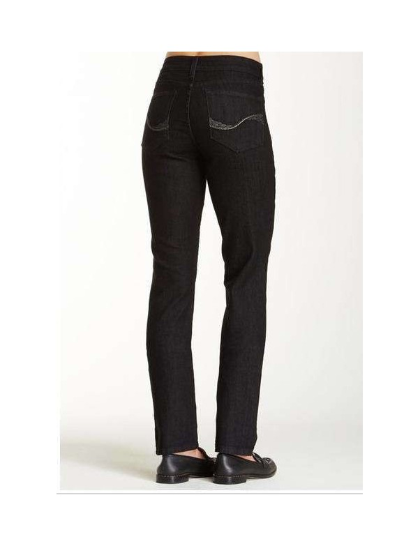 NYDJ - Sheri Skinny Embellished Jeans in Black Enzyme Wash ( Tall ) *B28265T3156
