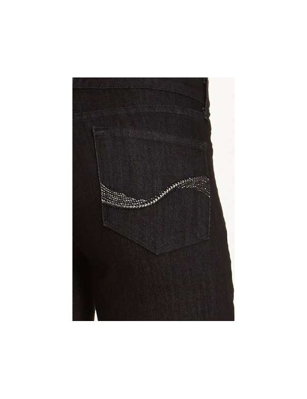 NYDJ - Sheri Skinny Embellished Jeans in Black Enzyme Wash*B28265T3156