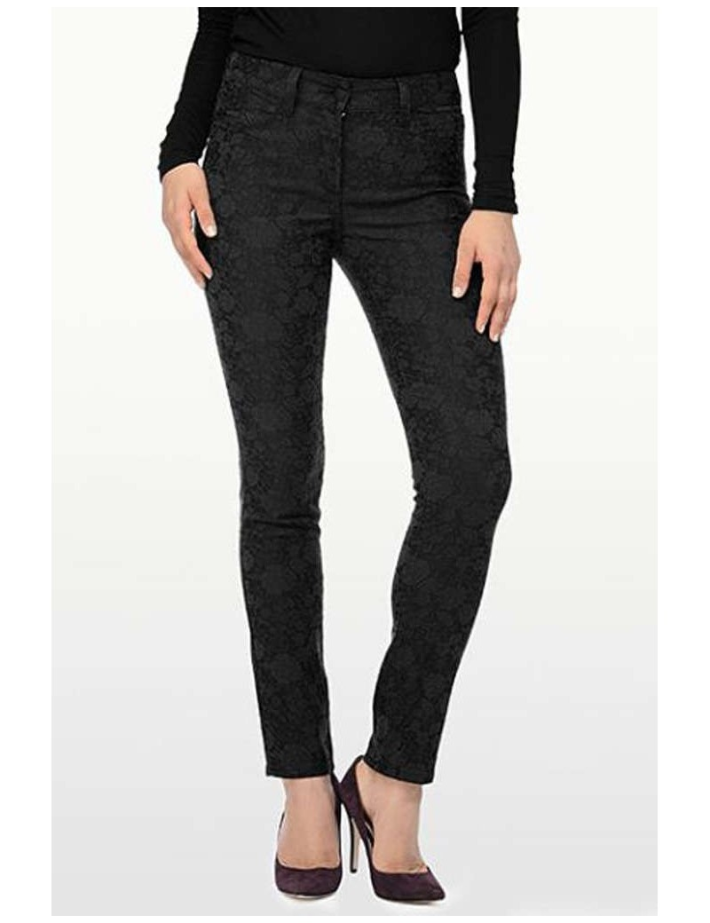 NYDJ - Jade Leggings in Black Floral Jacquard *M43C46GW