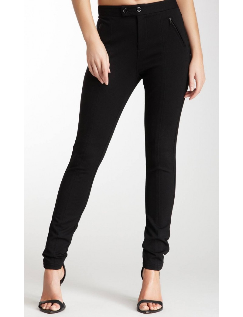 NYDJ - Aspen Black Ponte Knit Leggings with Zip Detailing *11408