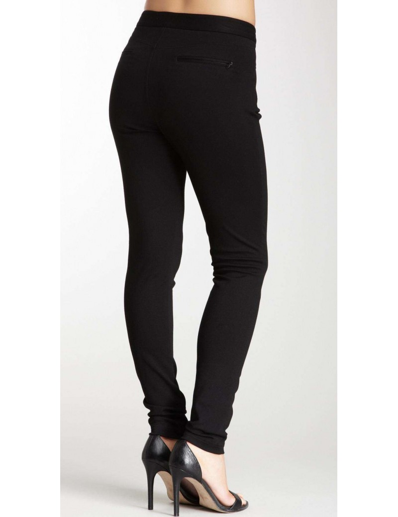 NYDJ - Aspen Black Ponte Knit Leggings with Zip Detailing *11408