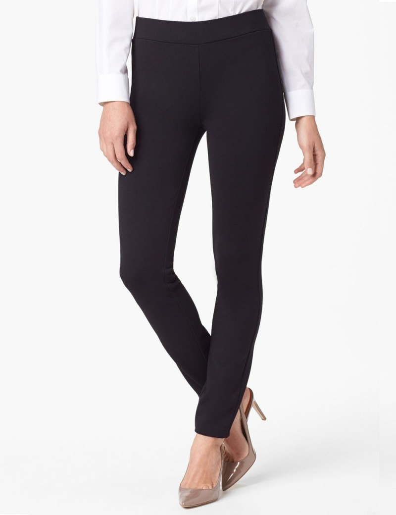 NYDJ - Jodie Pull on Ponte Knit Leggings in Black *11393