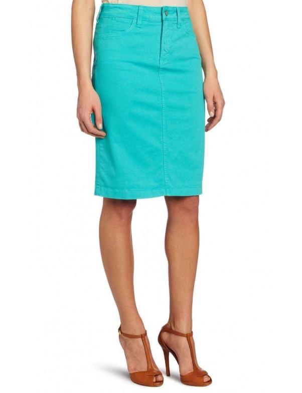 NYDJ - Emma Pencil Skirt in Aquamarine *32561