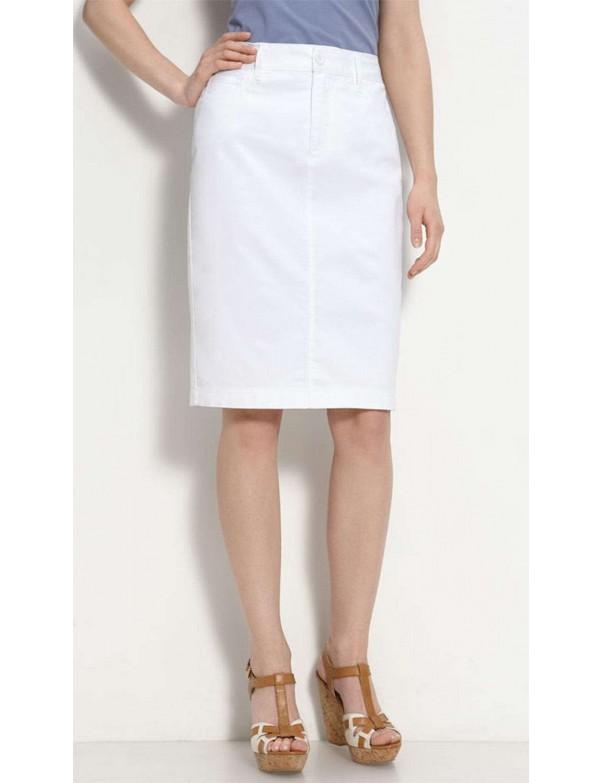 NYDJ - Emma Twill Pencil Skirt - White *30561