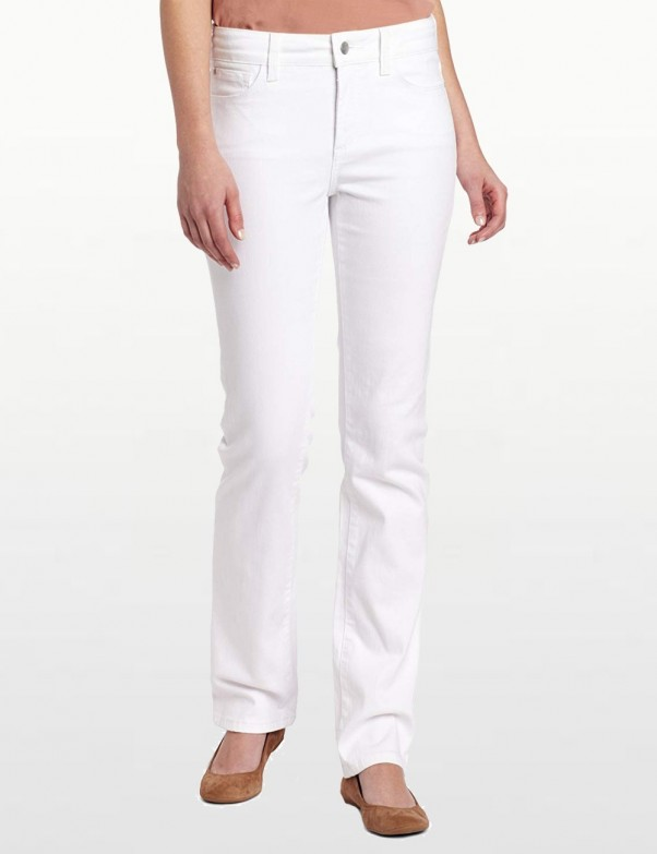NYDJ - Marilyn White Straight Leg Jeans *77747DT - Tall