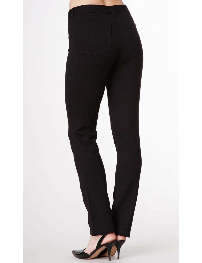 NYDJ - Charlotte Black Ponte Straight Leg Trousers *11851