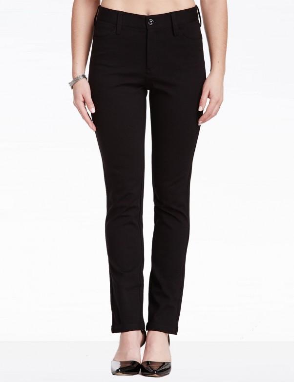 NYDJ - Straight Leg Ponte Knit Pants - Black *11531