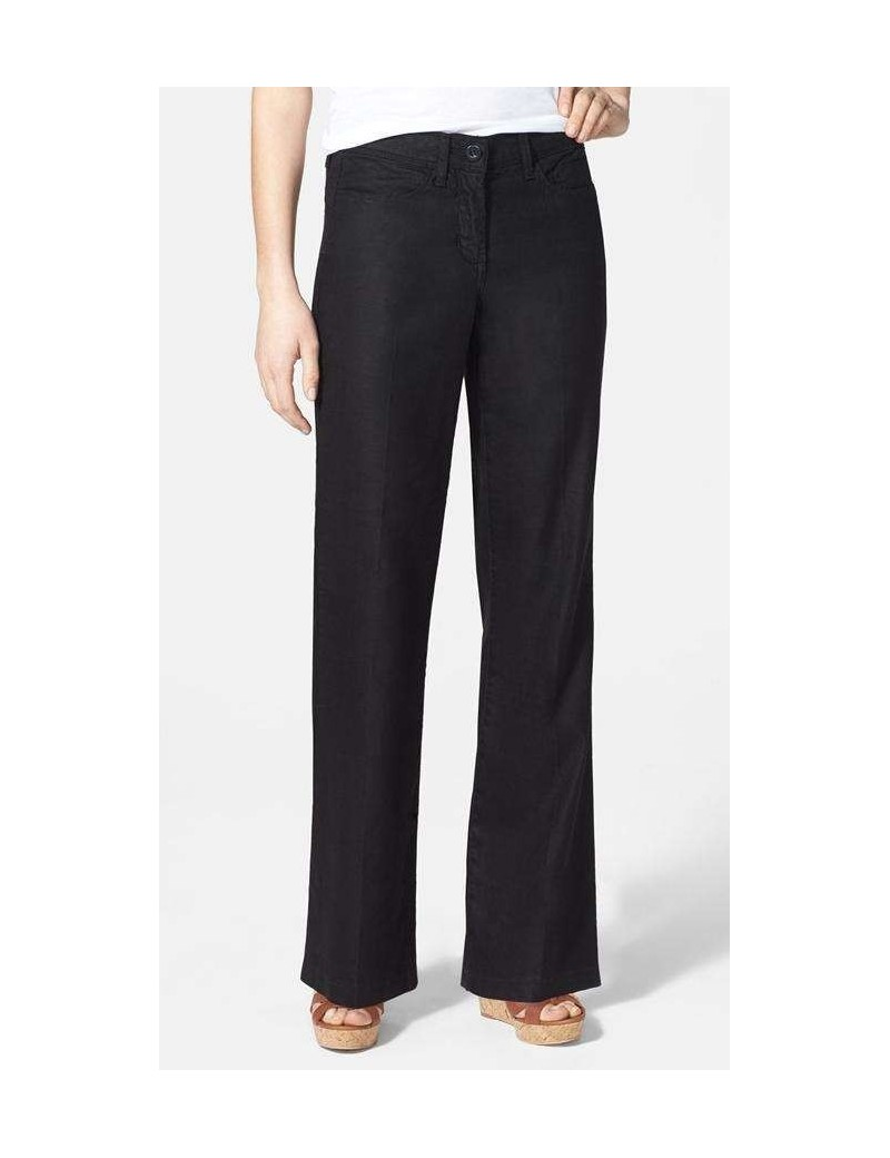 NYDJ - Wylie Linen Pants in Black *M58G06DT