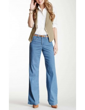 NYDJ - Lizzie Wide Leg Pants in Catalina Wash *64703CQ