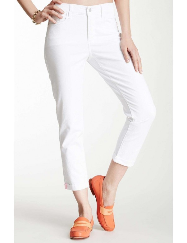 NYDJ - Kendall Roll Cuff Ankle Pants in White *77637DT