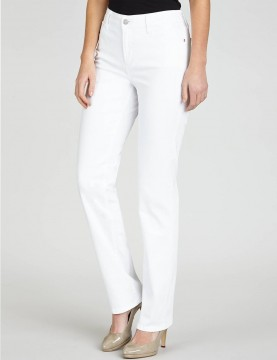 NYDJ - Marilyn Straight Leg Jeans in White *P55227 - Petites