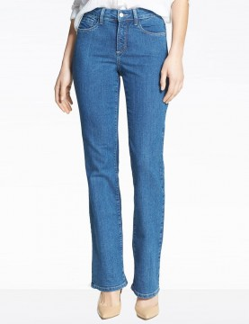 NYDJ - Barbara Bootcut Jeans in Maryland Wash with Embellishments ( Petites ) *P10232MY3101
